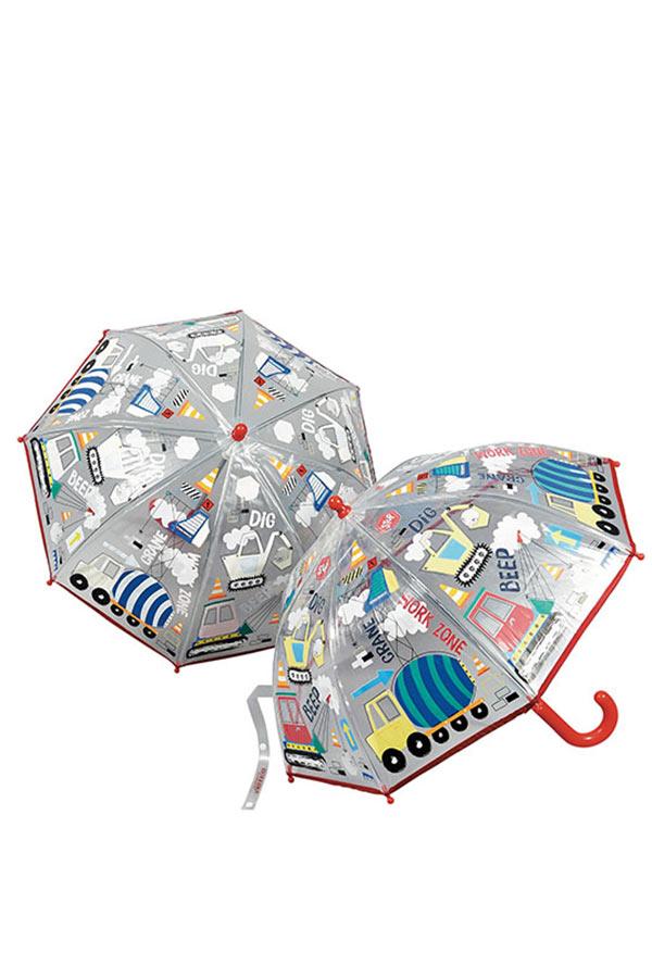 Ομπρέλα παιδική μπαστούνι διάφανη FLOSS&ROCK Κατασκευές 37P3097