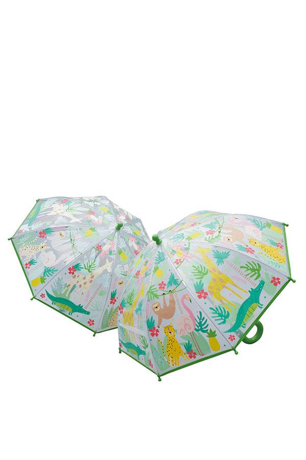 Ομπρέλα παιδική μπαστούνι διάφανη FLOSS&ROCK Ζούγκλα 38P3397