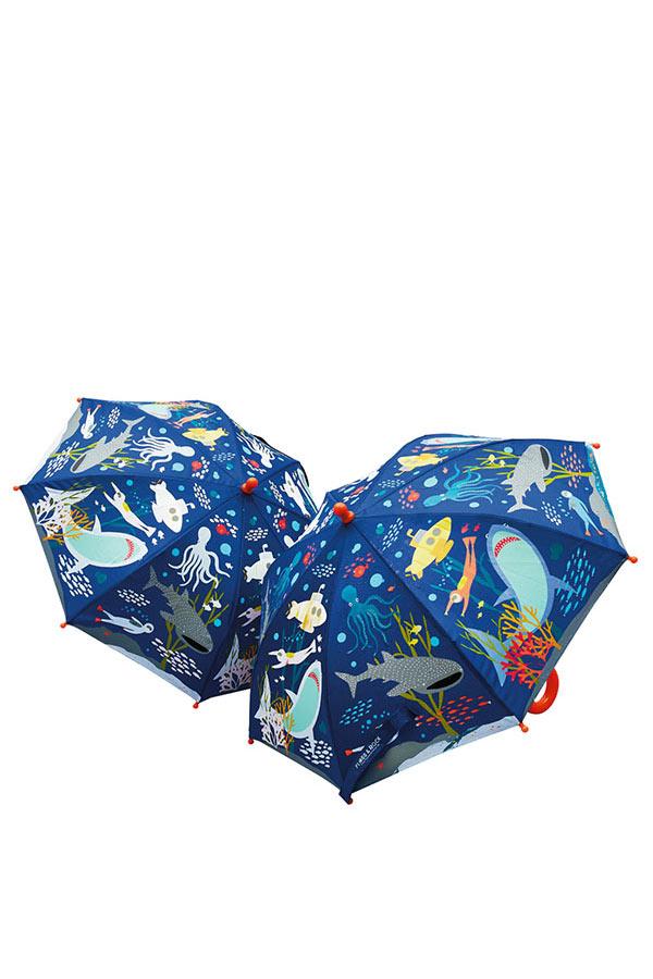 Ομπρέλα παιδική μπαστούνι FLOSS&ROCK Θάλασσα 38P3398