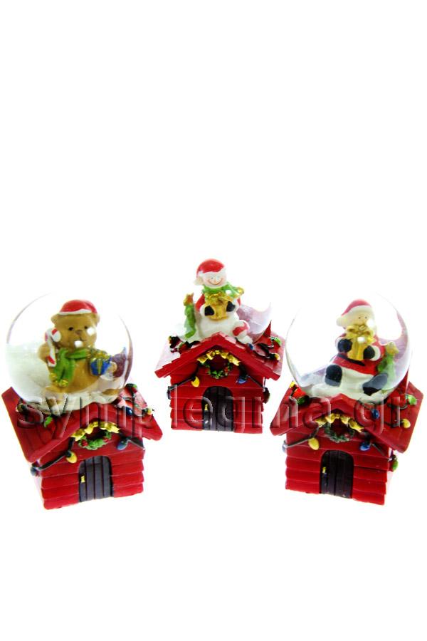 Χριστουγεννιάτικη χιονόμπαλα Αϊ -Βασίλης 0658138