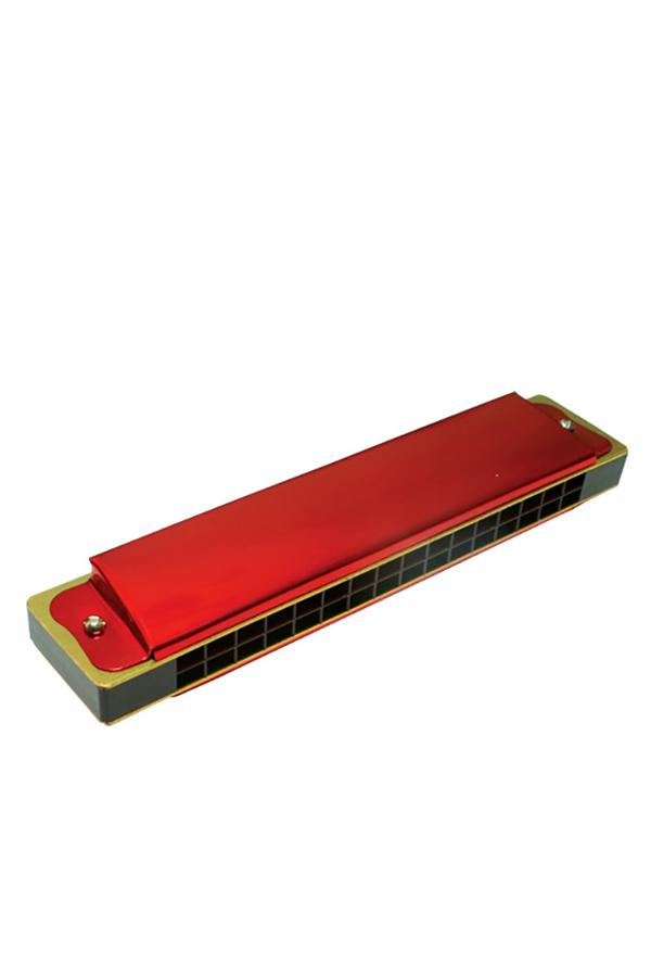 Φυσαρμόνικα 16 τόνων μεταλλική κόκκινη Ανέμη 00899