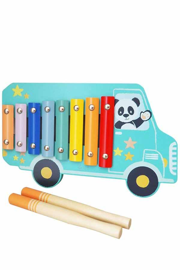 Μεταλλόφωνο ξύλινο 8 νότες STUDIO CIRCUS Happy bus 30333