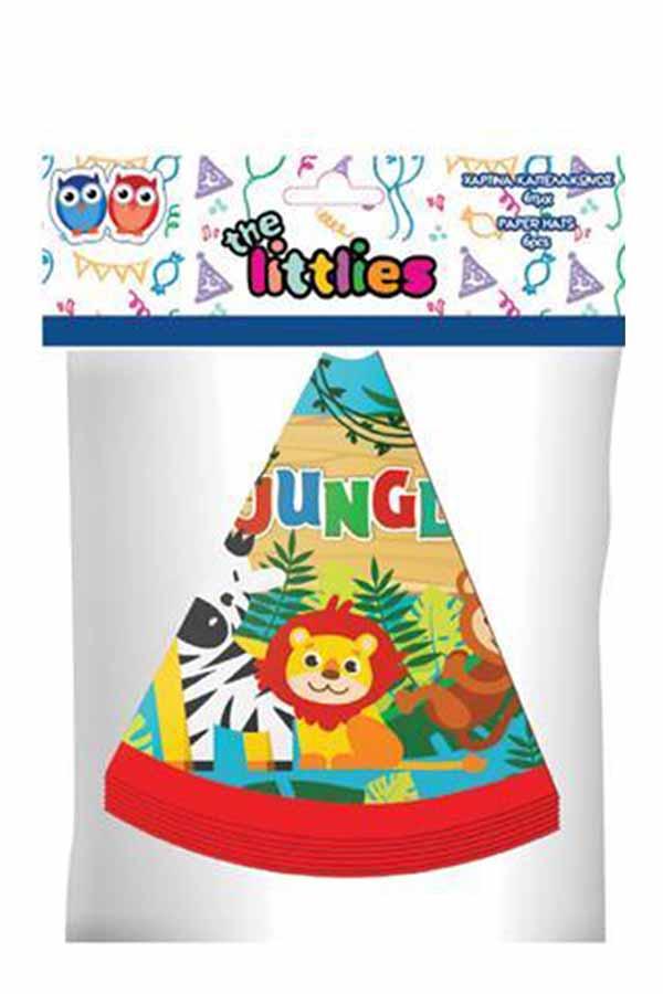 Καπελάκια κώνοι χάρτινα πάρτυ 6τεμ the littlies 0646102