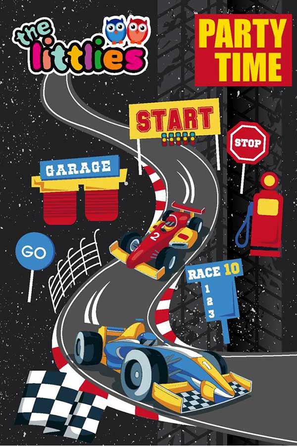Προσκλήσεις πάρτυ για αγόρια - PARTY TIME RACE 10 the littlies 0646740