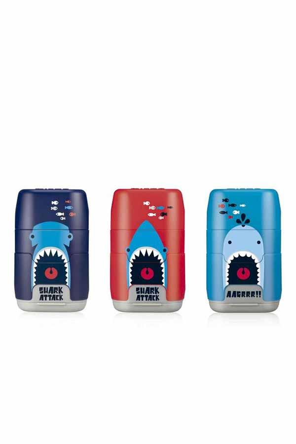 Γόμα με ξύστρα διπλή MILAN CAPSULE Shark attack 4706116SRT