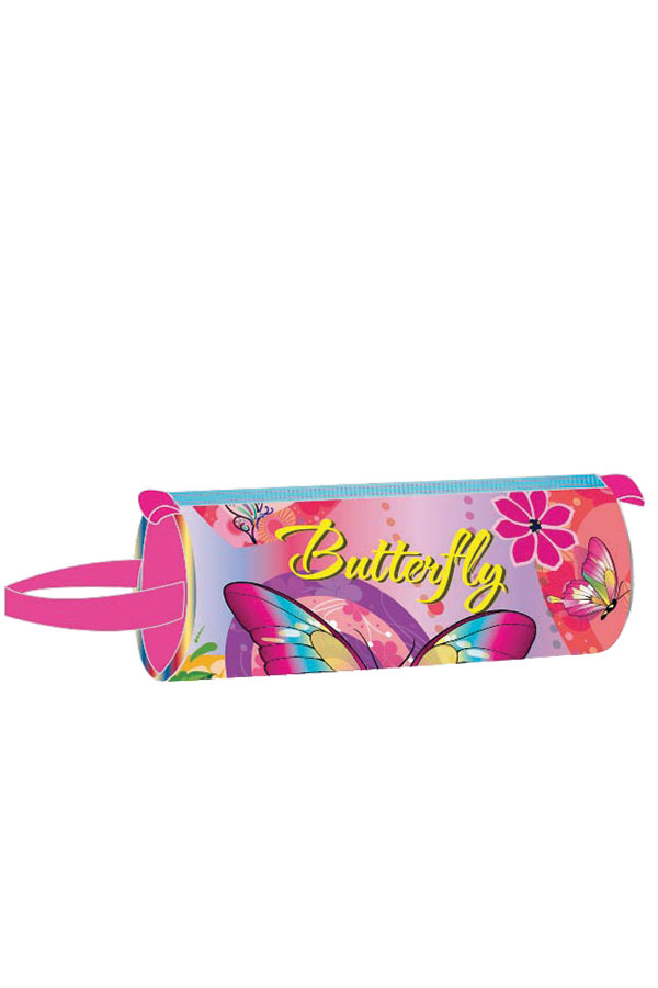 Κασετίνα σχολική στρογγυλή must 4Weels Butterfly 0579231
