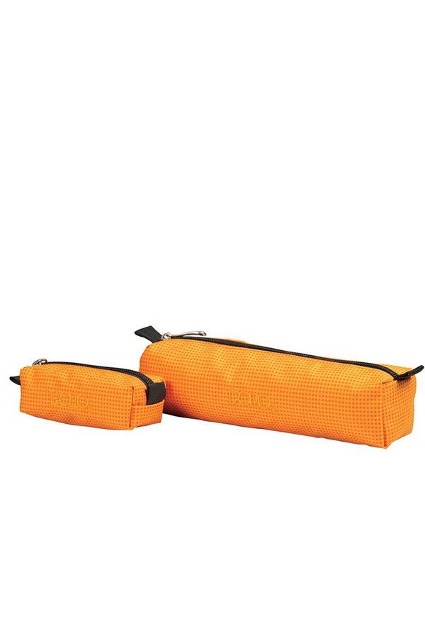 Κασετίνα σχολική POLO WALLET καρό πορτοκαλί 93700683