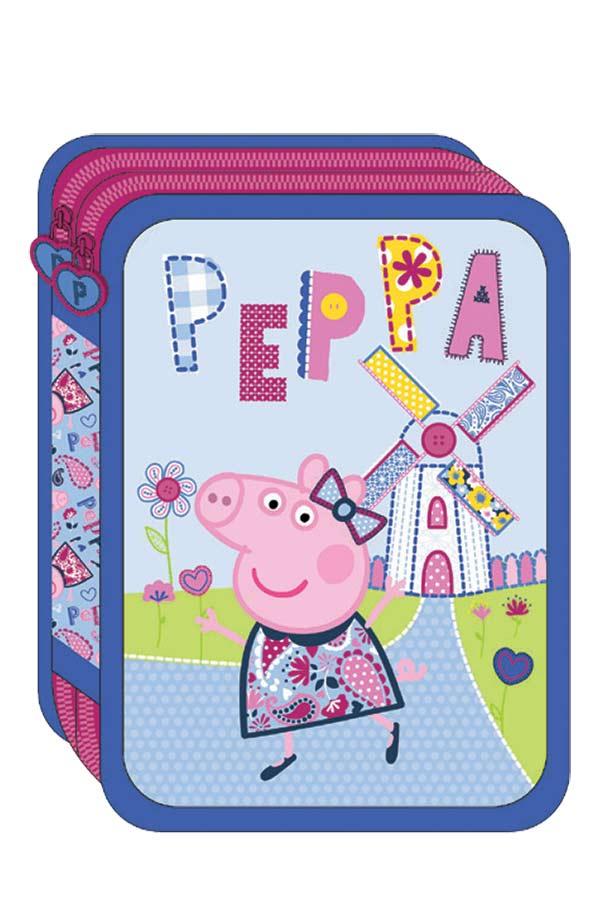 Κασετίνα σχολική γεμάτη Peppa pig Lets play 0482303