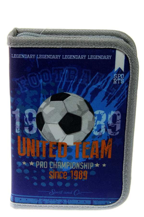 S.COOL Κασετίνα σχολική γεμάτη με 1 φερμουάρ United team SC.372