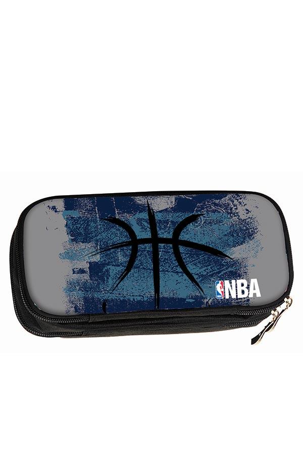 Κασετίνα σχολική οβάλ NBA μπλε 33863144