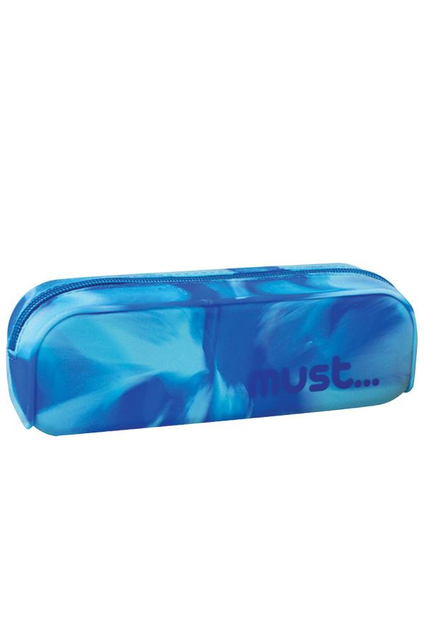 Κασετίνα σιλικόνης οβάλ must μπλε 0579116