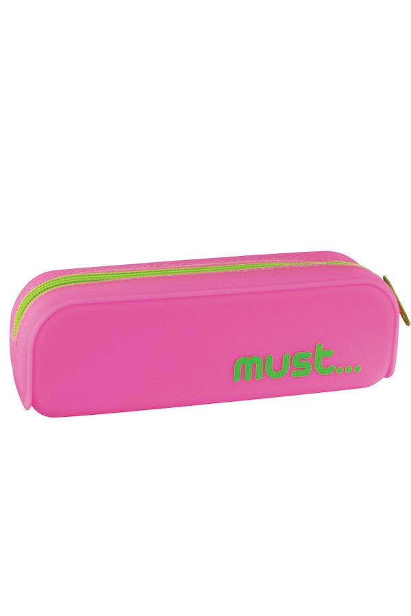 Κασετίνα σιλικόνης οβάλ must ροζ - λαχανί 0579117