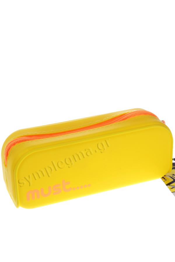 Κασετίνα σιλικόνης οβάλ must κίτρινο - πορτοκαλί 579018