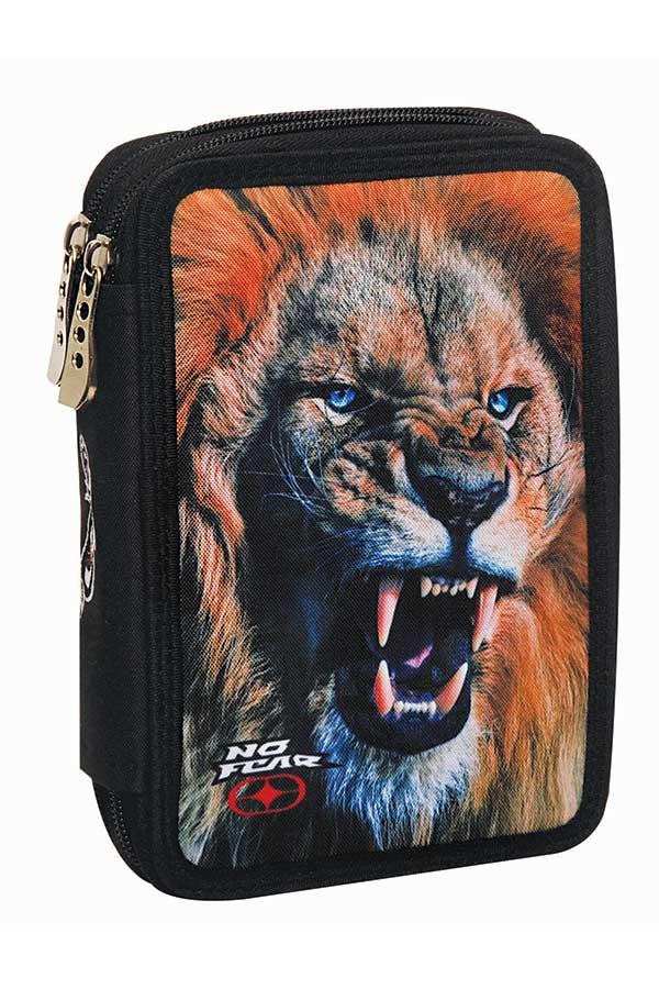 Κασετίνα σχολική γεμάτη NO FEAR λιοντάρι 34730100