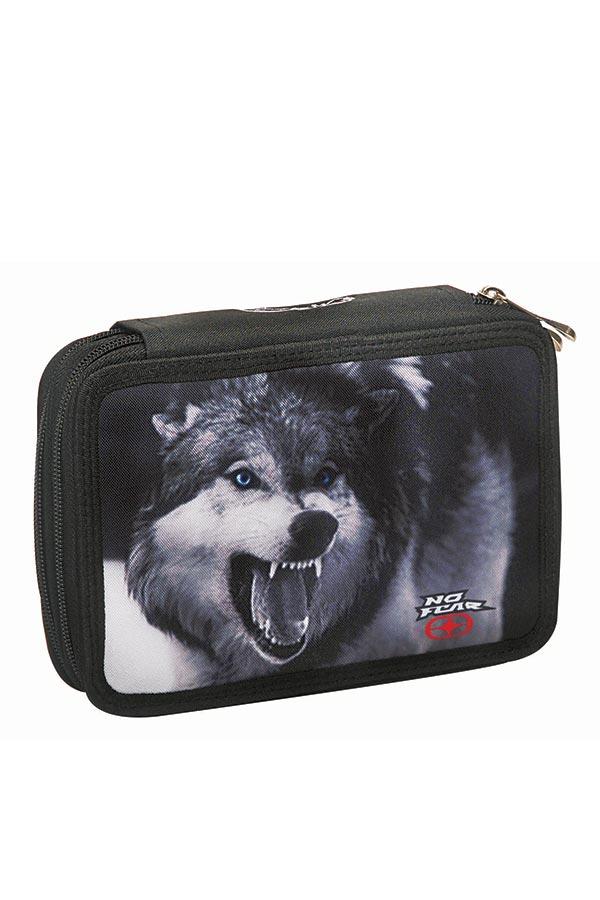 Κασετίνα σχολική γεμάτη NO FEAR λύκος 34732100