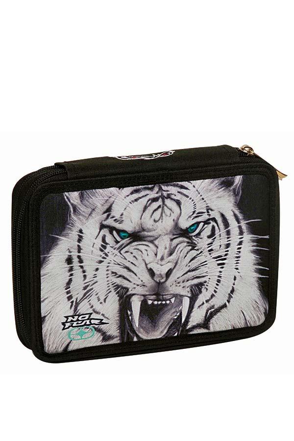 Κασετίνα σχολική γεμάτη NO FEAR λευκός τίγρης 34731100