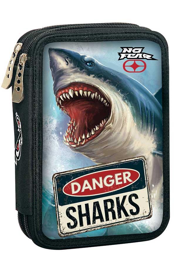 Κασετίνα σχολική γεμάτη NO FEAR Shark 34740100