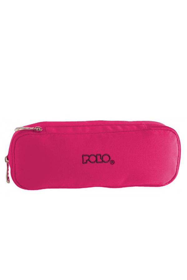 Κασετίνα σχολική διπλή POLO DUO BOX τριανταφυλλί 937004