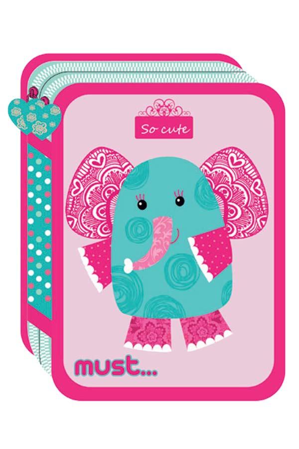 Κασετίνα σχολική γεμάτη must ELEPHANT 000579367