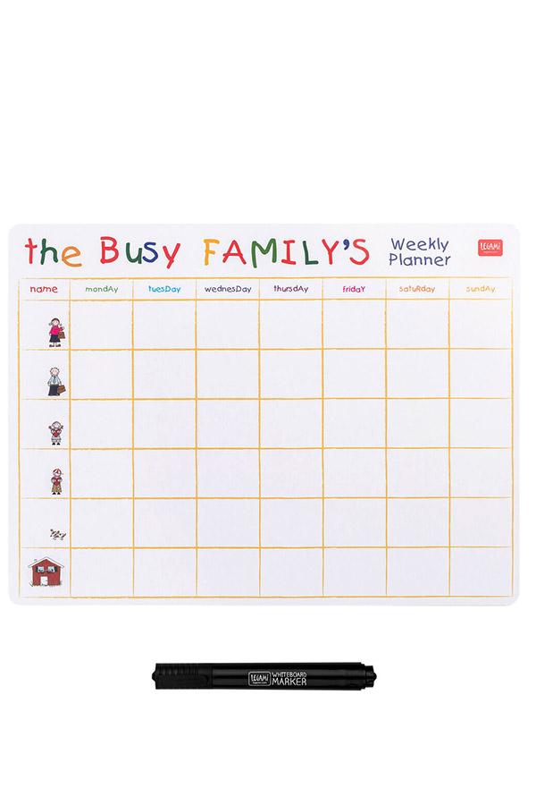 Μαθητικό πρόγραμμα μαγνητικό The busy family΄s LEGAMI MBO0072