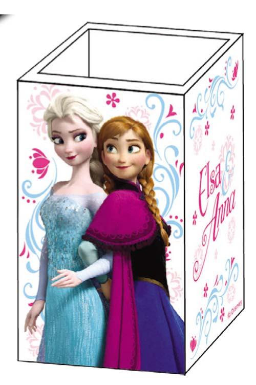Μολυβοθήκη ξύλινη τετράγωνη Frozen Elsa and Anna 0561123