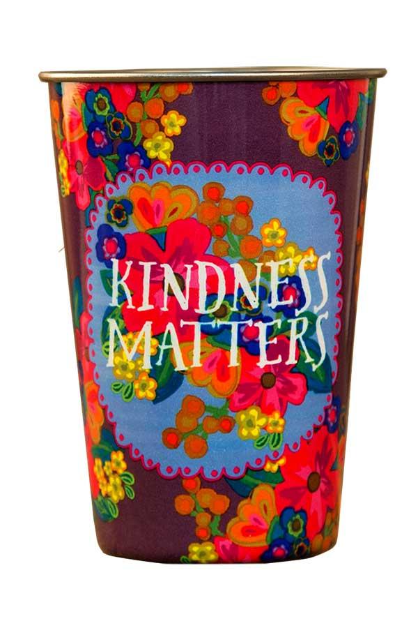 Natural Life Ποτήρι ανοξείδωτο Kindness matters CUP036