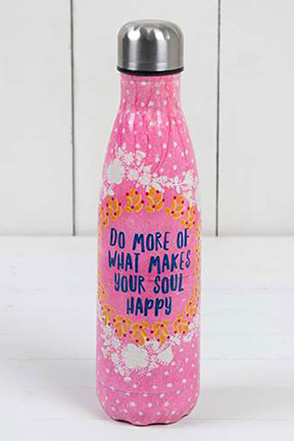 Θερμός ανοξείδωτος 500ml Natural Life - Do more of what makes your soul happy WB011