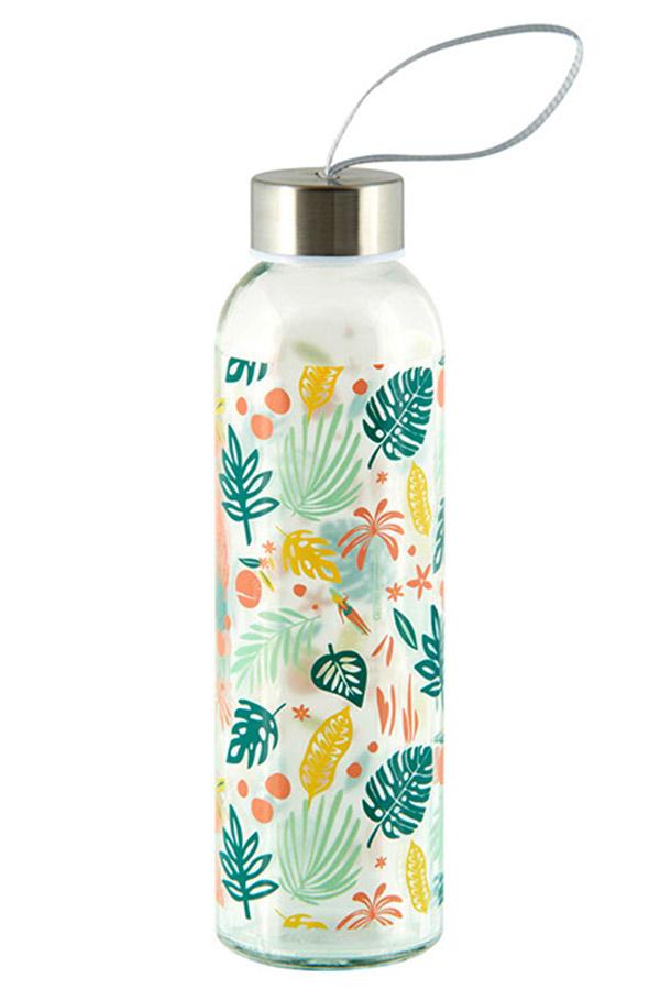 Derriere La Porte Γυάλινο μπουκάλι 500ml Πράσινα φύλλα P058-V010825
