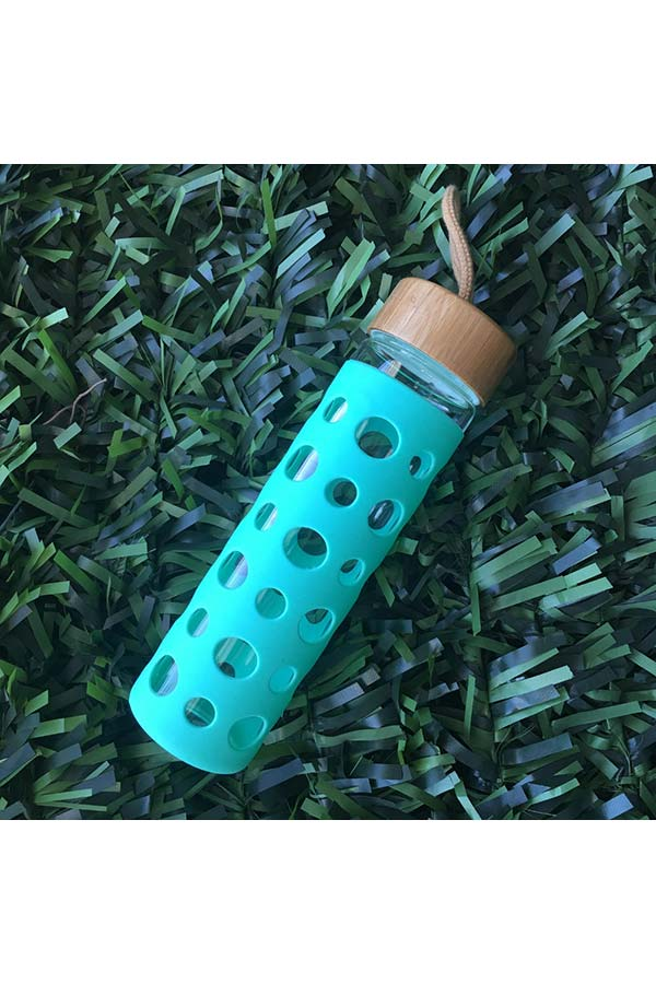 Μπουκάλι γυάλινο με κάλυμμα σιλικόνης smash 600ml