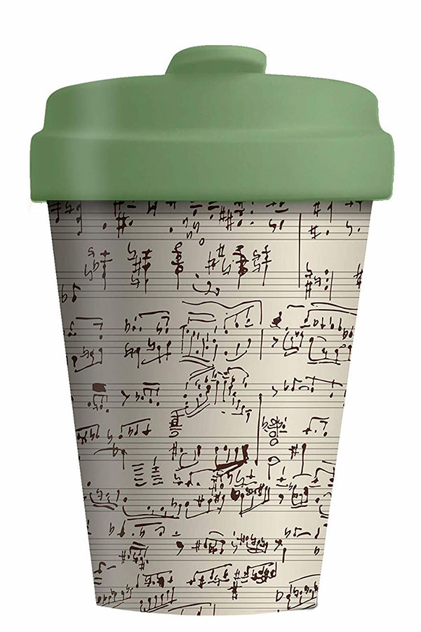 Κούπα μπαμπού chic.mic 400ml Music Notes BCP213