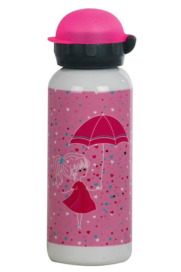 Παγούρι μεταλλικό POLO 450ml Κοριτσάκι με ομπρέλα 9-48-002