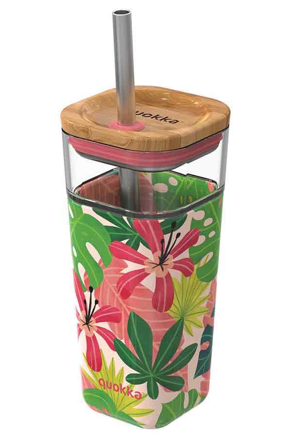 quokka Γυάλινο ποτήρι Pink Jungle 540ml 40051