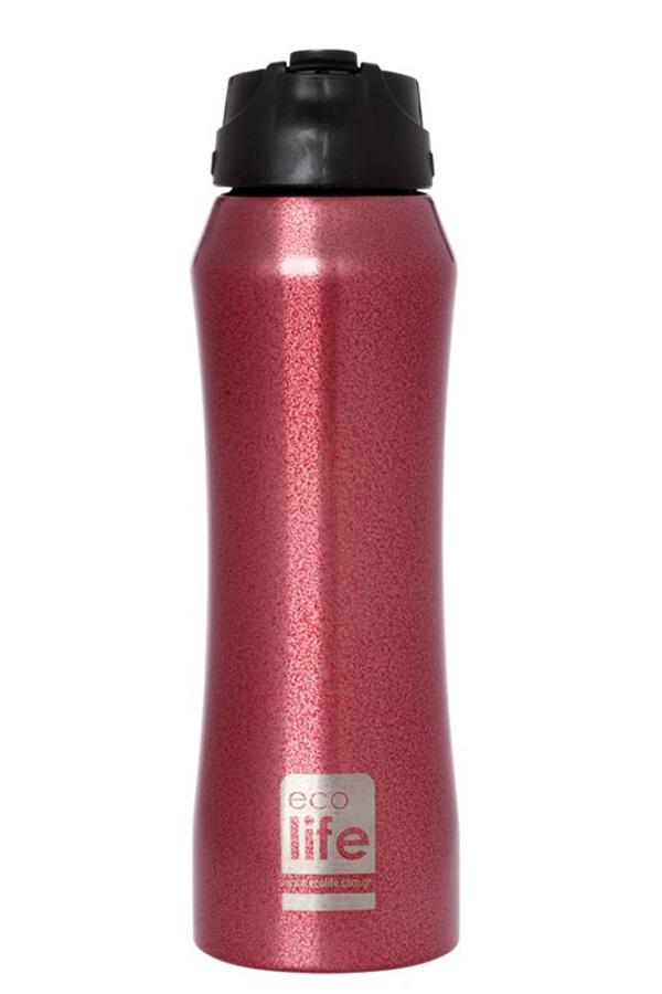 Θερμός Ανοξείδωτος ecolife 550ml red - κόκκινος