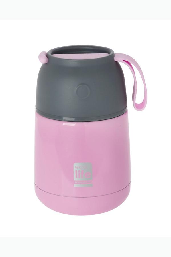 Θερμός φαγητού ανοξείδωτος 450ml ecolife ροζ