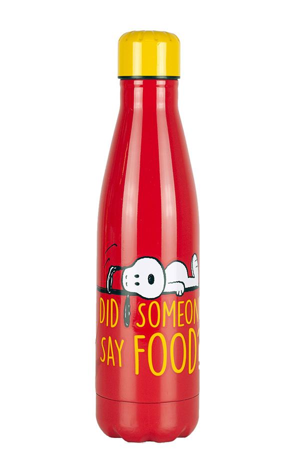Παγούρι ανοξείδωτο 500ml Snoopy DID SOMEONE SAY FOOD 555-80243