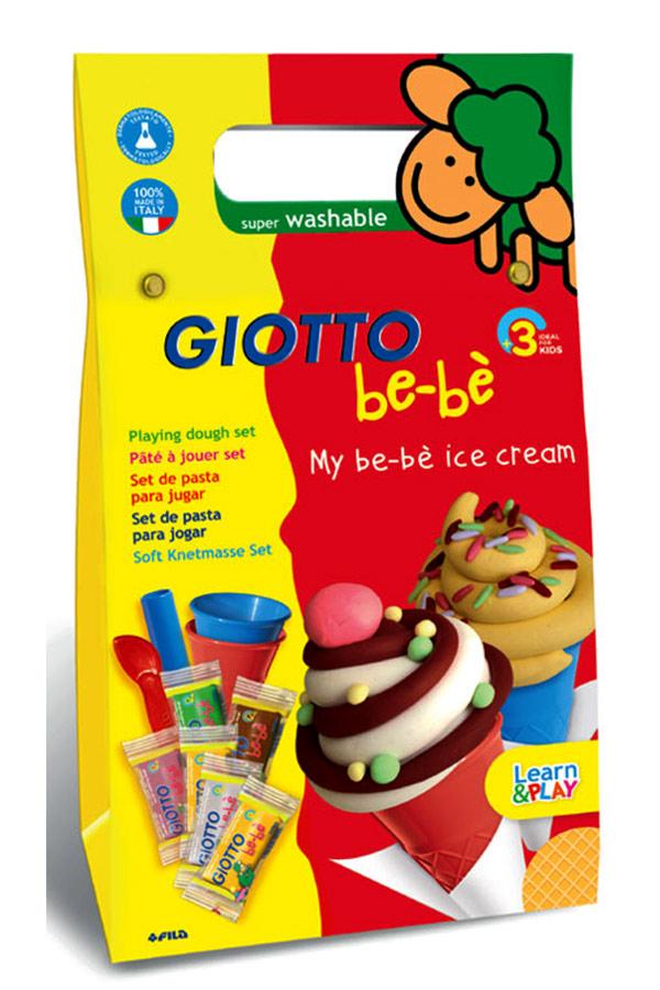 Σετ δημιουργίας με πλαστοζυμαράκια 14 τεμάχια GIOTTO be-be Παγωτό 470000