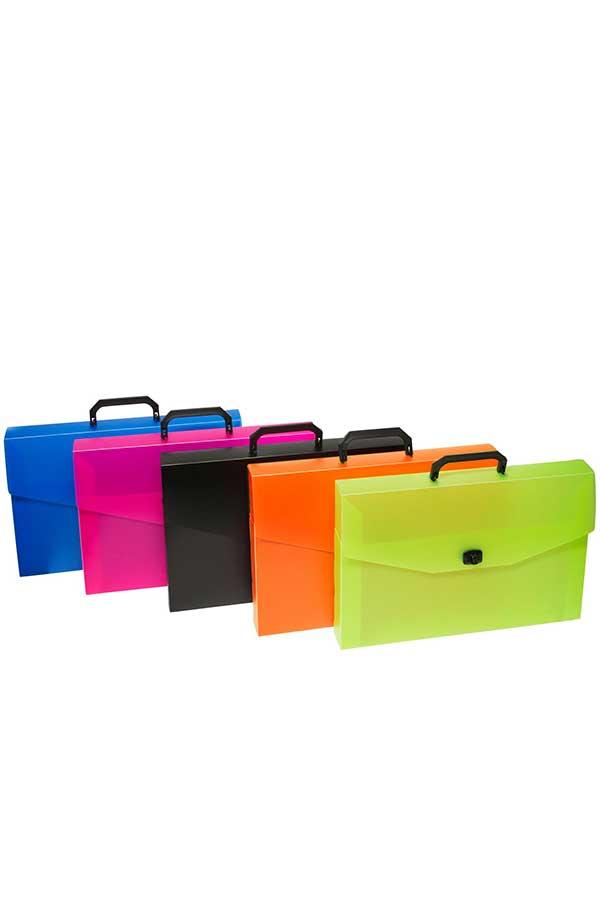 Τσάντα εικαστικών πλαστική μπλε 28x39cm