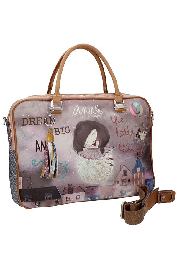 Τσάντα laptop χαρτοφύλακας Anekke Ballerina μπλε 24795.1