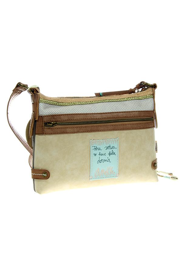 Τσάντα ώμου μπεζ Anekke - Seaside 22785