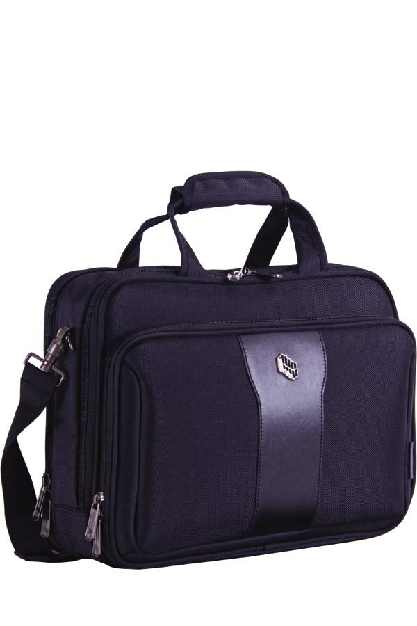 Επαγγελματική τσάντα χαρτοφύλακας - laptop μαύρη PULSE 120253