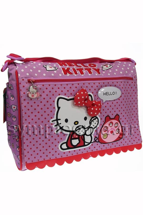 Τσάντα ώμου Hello Kitty phone μωβ 14824