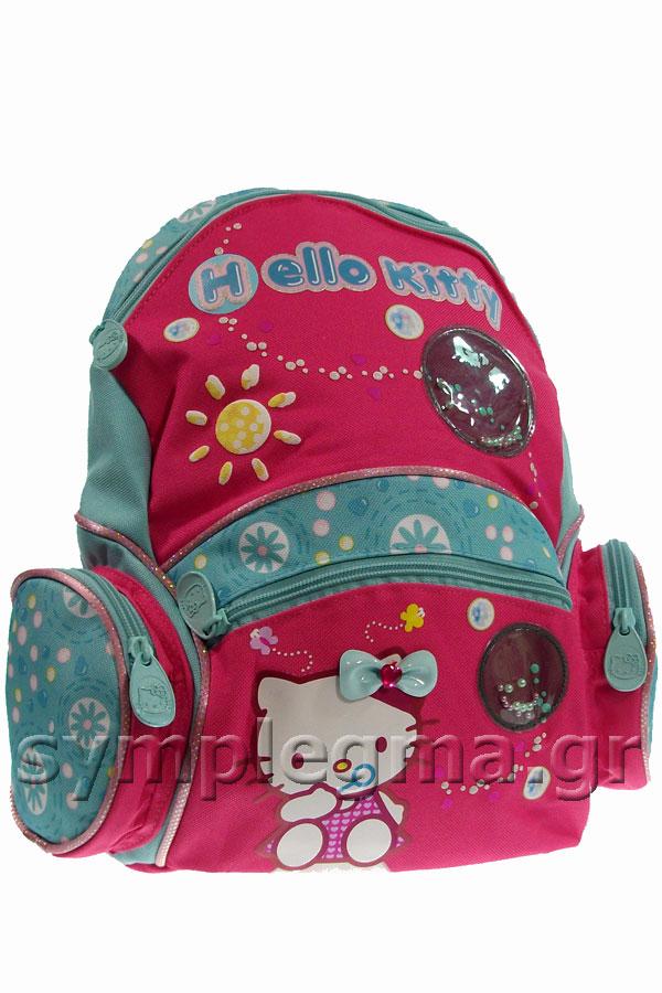 Σακίδιο νηπιαγωγείου Hello Kitty φούξια - γαλάζια 29829 1b680866877