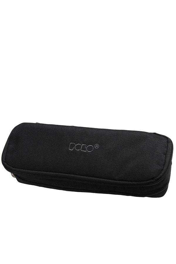 Κασετίνα σχολική διπλή POLO DUO BOX μαύρη 937004