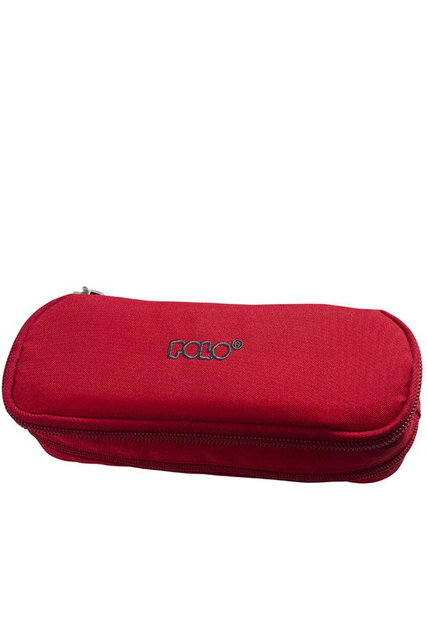 Κασετίνα σχολική διπλή POLO DUO BOX κόκκινη 937004