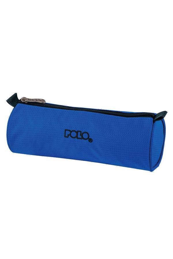 Κασετίνα σχολική POLO BIG ROLL καρό μπλε 93701082