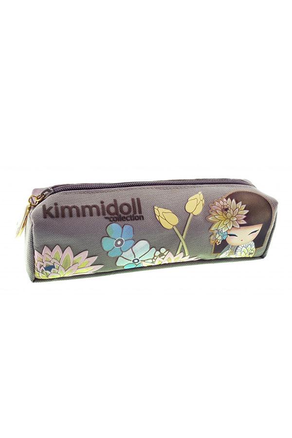 Κασετίνα σχολική βαρελάκι Kimmidoll γκρι 63321