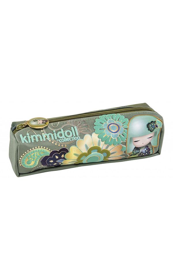 Κασετίνα σχολική βαρελάκι Kimmidoll πράσινη 63322
