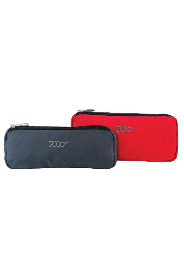 Κασετίνα σχολική διπλή μαγνητική POLO CASE DOUBLE γκρι κόκκινο 93701803