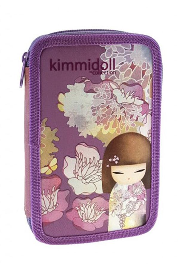Κασετίνα σχολική γεμάτη Kimmidoll μωβ 163333