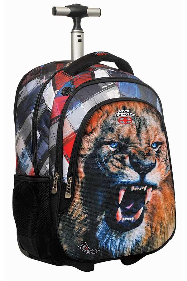 Σχολική τσάντα τρόλεϊ NO FEAR λιοντάρι 34730074